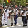 Des soldats français défilent à Dakar, le 4 avril 2010, lors des cérémonies marquant le cinquantenaire de l'indépendance du Sénégal.