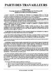 Compte rendu de la sauvage répression des marches pacifiques des 17 et 18 mars 2011 appelées par le FRAC et le Parti des travailleurs