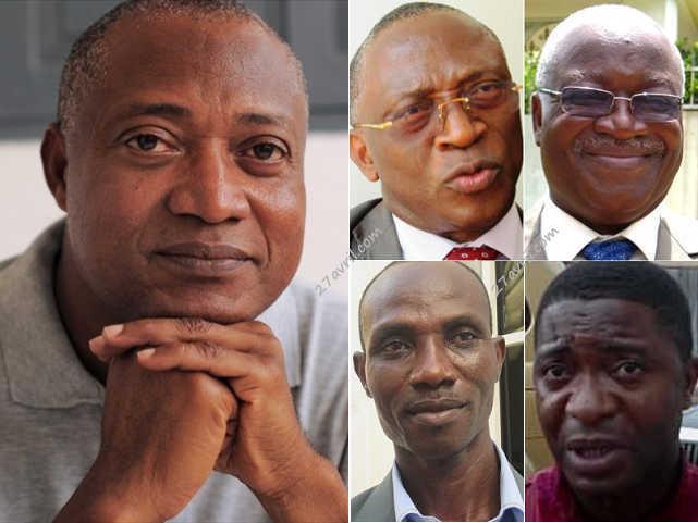 Les leaders de l'opposition parlementaire togolaise | Infog : 27avril.com