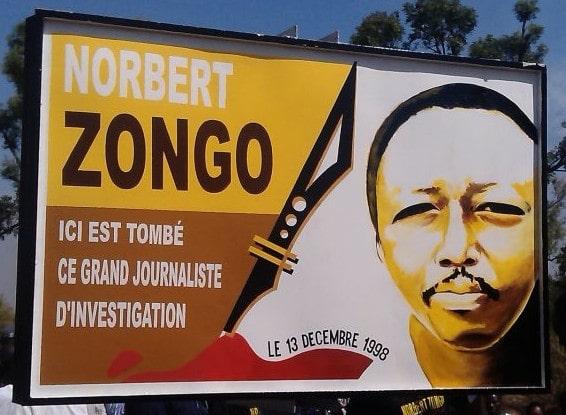 Panneau : Norbert Zongo Burkina