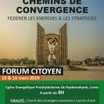 Forum citoyen Mouvement des Forces Vives Espérance pour le Togo 15 et 16 mars 2019 Flyer